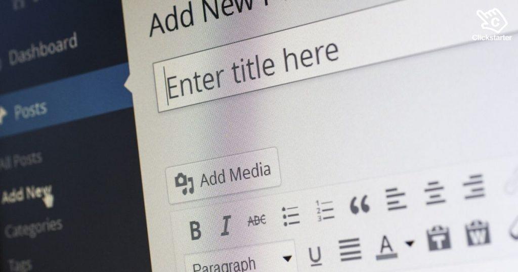 Image of WordPress post screen