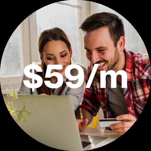 $59 per month